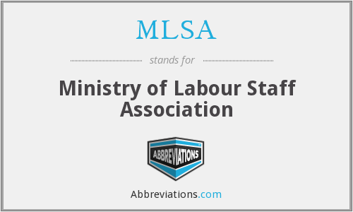 MLSA - Ministry of Labour Staff Association