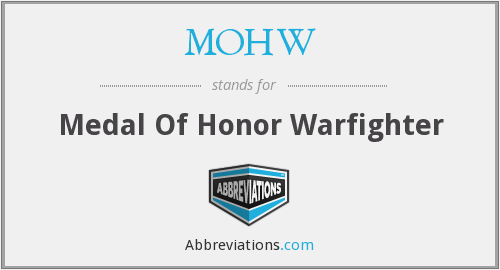 MOHW - Medal Of Honor Warfighter