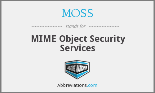 MOSS - MIME Object Security Services