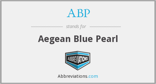ABP - Aegean Blue Pearl