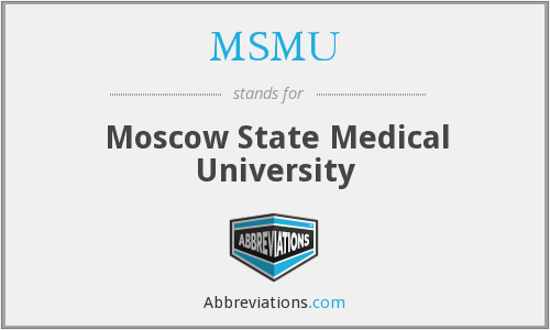 What does MSMU stand for?