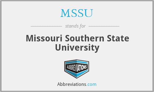 MSSU - Missouri Southern State University