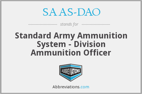 What does SAAS-DAO stand for?