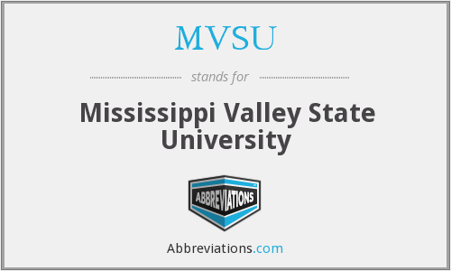 What does MVSU stand for?