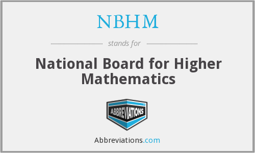 NBHM - National Board for Higher Mathematics