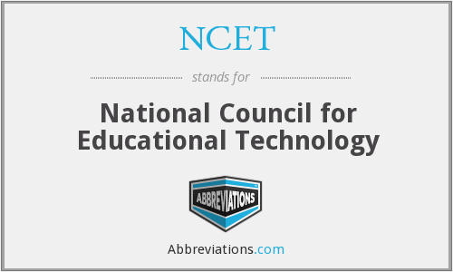 What does NCET stand for?