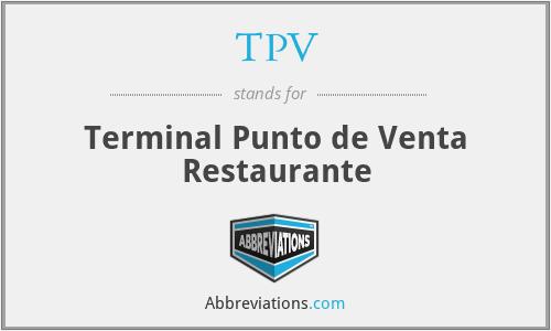 TPV - Terminal Punto de Venta Restaurante