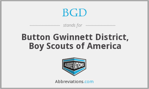 BGD - Button Gwinnett District, Boy Scouts of America
