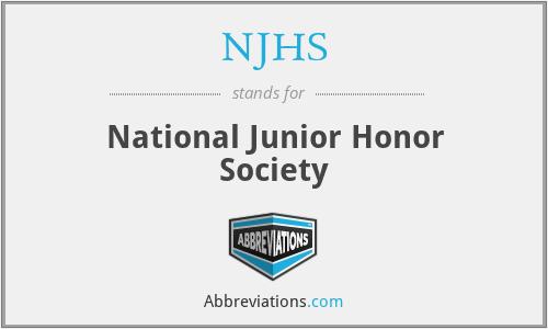 NJHS - National Junior Honor Society