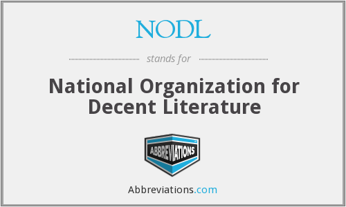 NODL - National Organization for Decent Literature