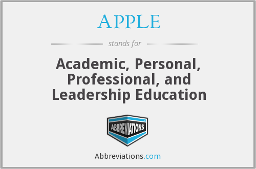 APPLE - Academic, Personal, Professional, and Leadership Education