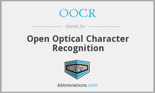 OOCR - Open Optical Character Recognition