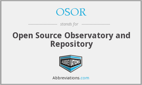 What does OSOR stand for?