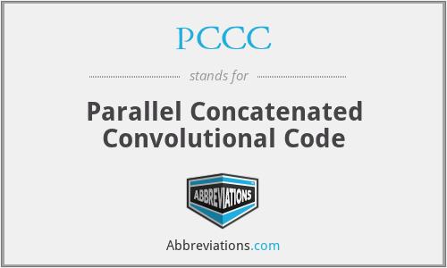 PCCC - Parallel Concatenated Convolutional Code