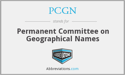 PCGN - Permanent Committee on Geographical Names