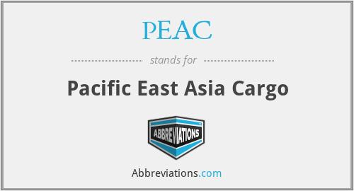 PEAC - Pacific East Asia Cargo