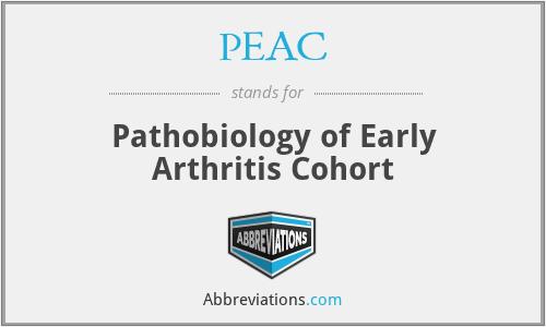 PEAC - Pathobiology of Early Arthritis Cohort