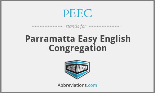 PEEC - Parramatta Easy English Congregation