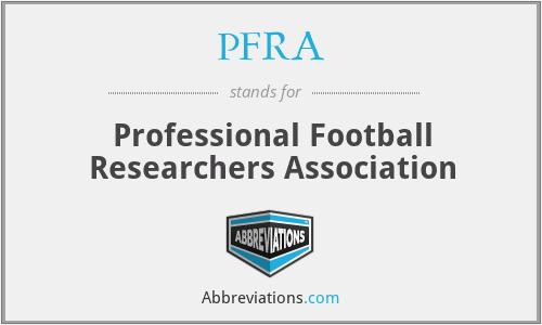 PFRA - Professional Football Researchers Association