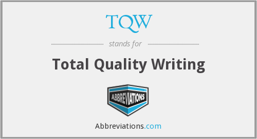 TQW - Total Quality Writing