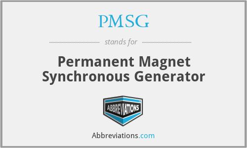 PMSG - Permanent Magnet Synchronous Generator
