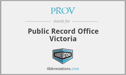 PROV - Public Record Office Victoria
