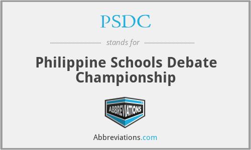 PSDC - Philippine Schools Debate Championship