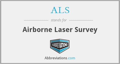 ALS - Airborne Laser Survey