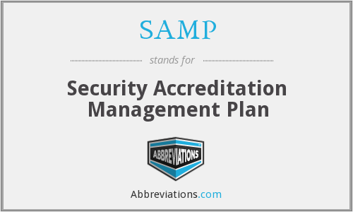 SAMP - Security Accreditation Management Plan