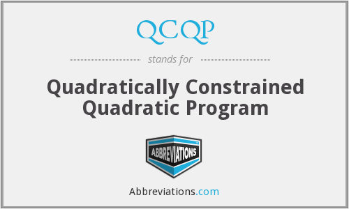 What does QCQP stand for?