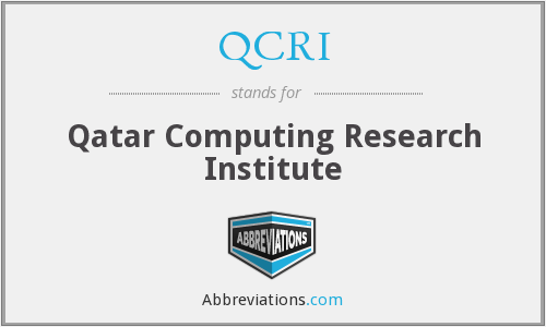 What does QCRI stand for?