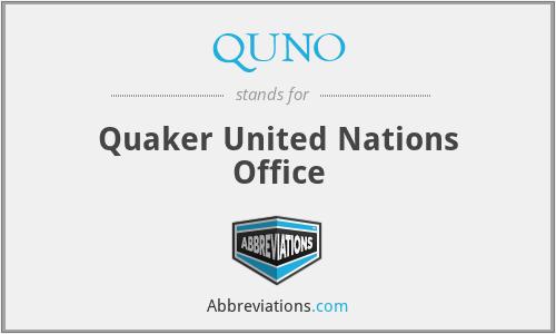 QUNO - Quaker United Nations Office