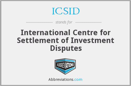 What does ICSID stand for?