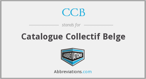 CCB - Catalogue Collectif Belge