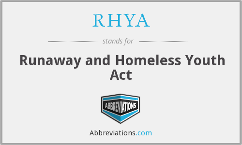 What does RHYA stand for?