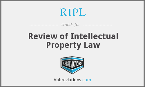 RIPL - Review of Intellectual Property Law