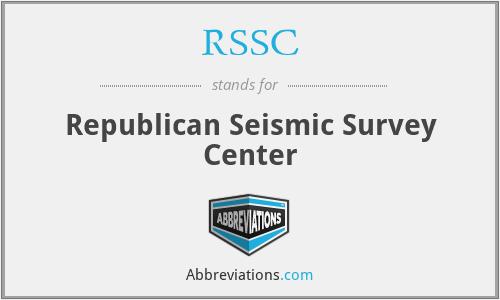 RSSC - Republican Seismic Survey Center