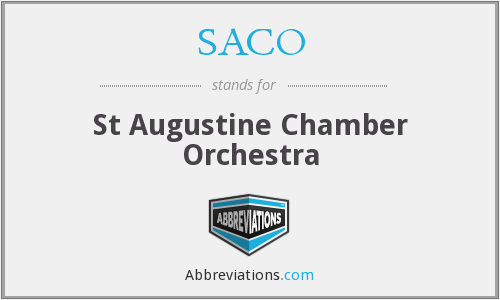 SACO - St Augustine Chamber Orchestra
