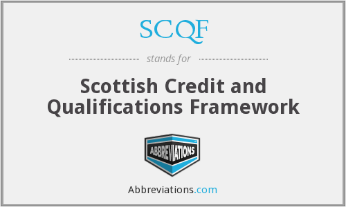 What does SCQF stand for?
