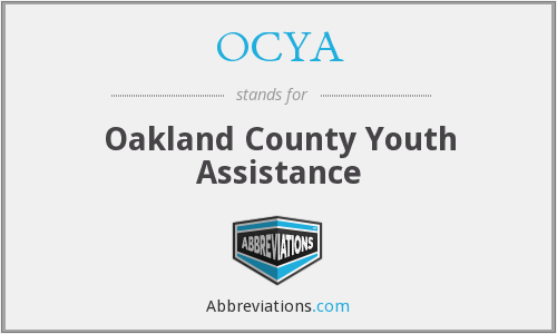 What does OCYA stand for?