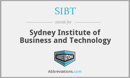 What does SIBT stand for?