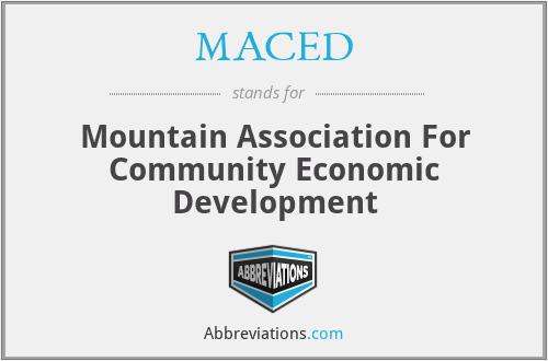 MACED - Mountain Association For Community Economic Development