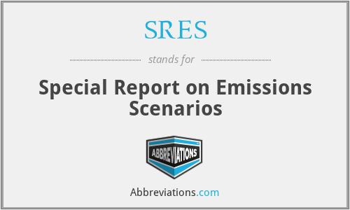 SRES - Special Report on Emissions Scenarios