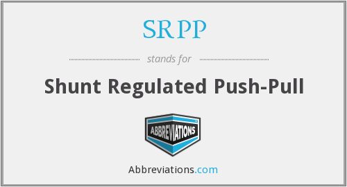 What does SRPP stand for?