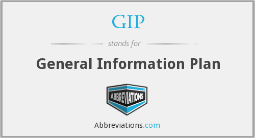 GIP - General Information Plan
