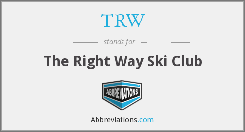 TRW - The Right Way Ski Club
