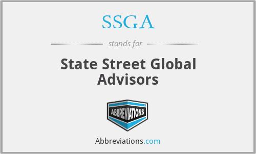 SSGA - State Street Global Advisors