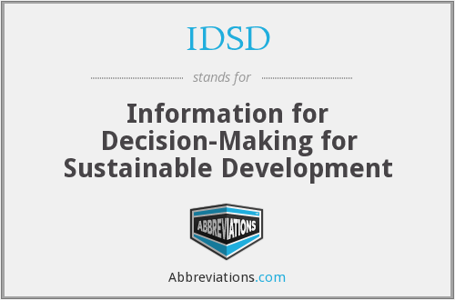 IDSD - Information for Decision-Making for Sustainable Development