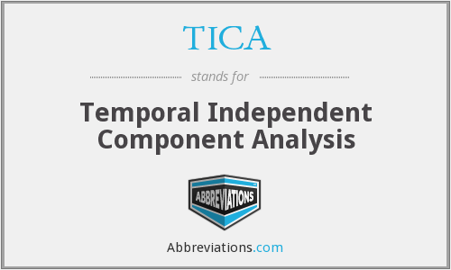 TICA - Temporal Independent Component Analysis