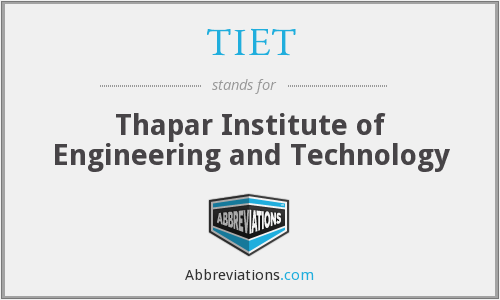 What does TIET stand for?